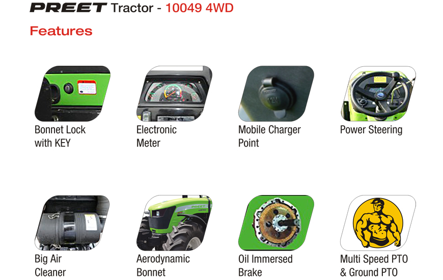 PREET 10049 - 4WD 100 HP Tractor :: Manufacturer and Exporter of